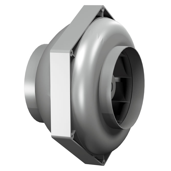 Duct Fan In An Enclosure : Inline duct fans high efficiency backward curved