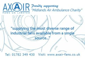 Axair Fans support Midlands Air Ambulance